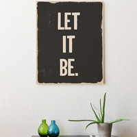 Inspirational Art Print Let It Be 11x14 Word by FreshWordsMarket