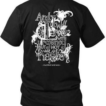 Mumford And Sons Quote Typhograpy Art 2 Sided Black Mens T Shirt