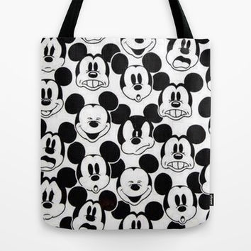 Mickey Mouse Tote Bag by Pink Berry Pattern | Society6