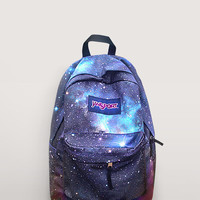 JanSport Galaxy Backpack - Hand Painted Backpack - School Backpack