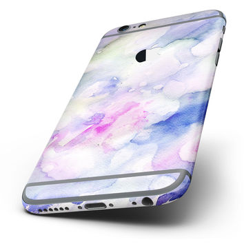 The Light Blue 3123 Absorbed Watercolor Texture Six-Piece Skin Kit for the iPhone 6/6s or 6/6s Plus