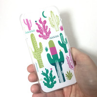 Pastel Cactus iPhone Case