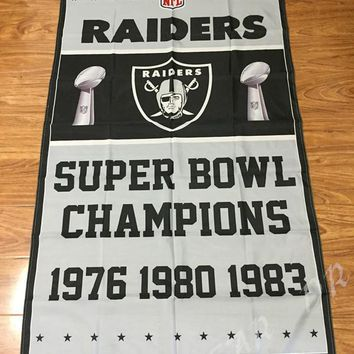 NFL Oakland Raiders Super Bowl Champions Flag 3ft x 5ft