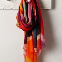 Abstract Graffiti Scarf by Anthropologie Orange One Size Scarves