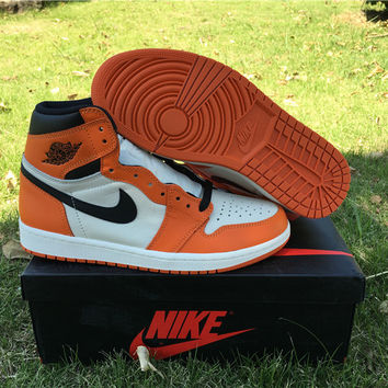 "Air Jordan 1 ""Reverse Shattered Backboard"" Men and Women Basketball Shoes"