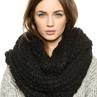 Black Chunky Hand Knitted Snood