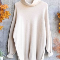 Free People - Softly Structured Oversize Knit Tunic - Ivory