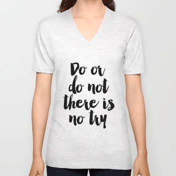 Do Or Do Not There Is No Try - Yoda - Inspirational Quote - Dictionary Print Book Art Print Unisex V-Neck by PrintableLifeStyle