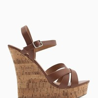 Serum S Essential Strappy Cork Wedge
