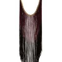 Ombre Fringe Statement Necklace by Charlotte Russe - Multi