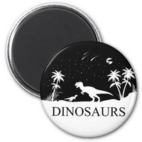 Dinosaur Under The Stars 2 Inch Round Magnet