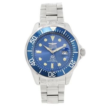 Invicta 16036 Men's Grand Diver Blue Dial Steel Bracelet Automatic Dive Watch