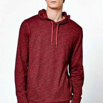 Modern Amusement Marled Long Sleeve Hooded Shirt - Mens Shirt - Red