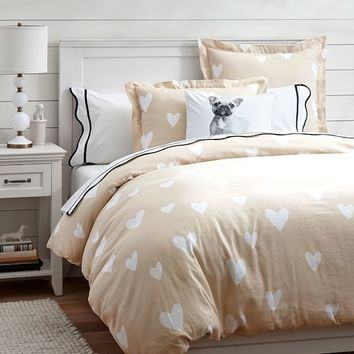 Scattered Heart Duvet Cover + Sham