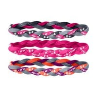 Under Armour Women's UA Braided Mini Headbands - 3pk One Size Fits All PINKADELIC