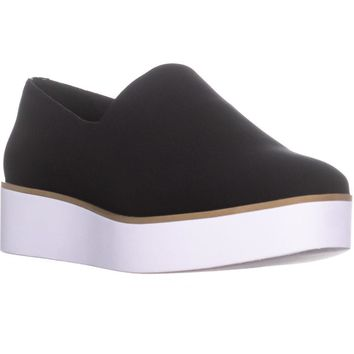 DKNY Robert Stretch Slip On Platform Sneakers, Black, 7 US / 37.5 EU