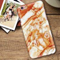 Orange Marble Stone iPhone 5se 5s 6 6s Plus Case Cover + Nice Gift Box 267