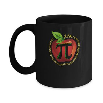 Teacher Apple Pi Math Happy Pi Day Mug