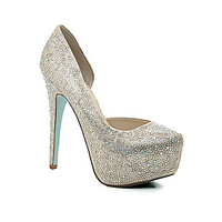 Blue by Betsey Johnson Star d'Orsay Pumps - Champagne