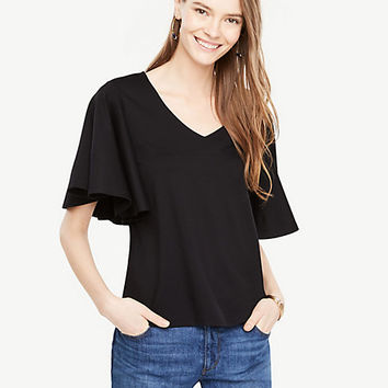 Angel Sleeve Top | Ann Taylor