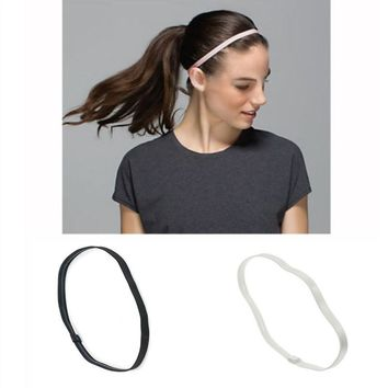 Women Men Elastic Sports Yoga Hair Bands Football Anti-slip Rubber Headscarf Sports Headband Hair Accessories