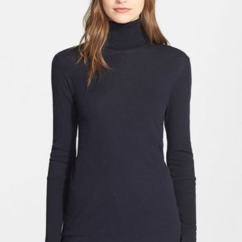 Women's Enza Costa Cotton & Cashmere Turtleneck,