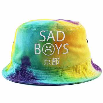 Sad Boys Tie Dye Bucket Hat NEW