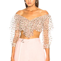 Sandra Mansour Sable Rose Top in Multi | FWRD