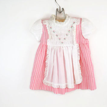 Pink Toddler Dress Polly Flinders Dress 3t Vintage Pink Dress