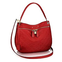 Louis Vuitton Leather Spontini Cross Body Carry Handbag Article:M42820 Cherry
