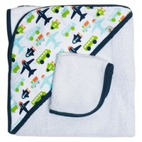 JJ Cole Hooded Towel - White Vroom