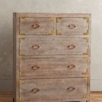 Portside Five-Drawer Dresser by Anthropologie in Neutral Size: 5 Drawer Furniture