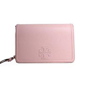Tory Burch Women's Thea Flat Wallet Cross Body Bag Sweet Melon One Size
