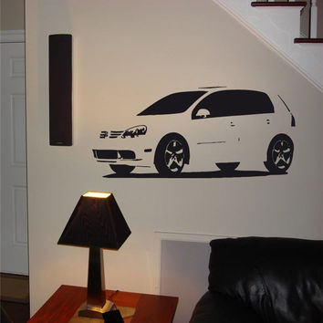 Wall Decal Mural 09 Volkswagen Rabbit 006 FRST