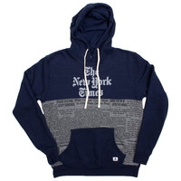 New York Times Newsprint Hoodie (Size XL Only)