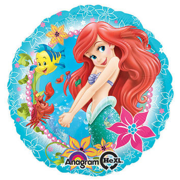 "Disney Princess ARIEL 17"" Mylar BALLOON Little Mermaid Birthday Party Supplies Decorations centerpiece"