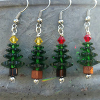 Crystal Christmas Tree Earrings - 4 styles available - Merry Christmas!