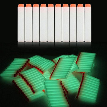 BattleFX Nerf N-Strike Elite Compatible Darts - Glow in the Dark - Pack of 100 - Fits All Nerf but Mega