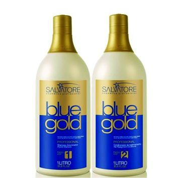 TANINOPLASTIE HAIR SMOOTHING TREATMENT SALVATORE BLUE GOLD KIT 1000ml/33Oz.