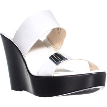 I35 Pandeh Platform Slide Wedge Sandals, Marshmellow, 5 US