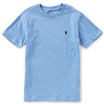 Ralph Lauren Childrenswear Little Boys 2T-7 Short-Sleeve Solid Crew Neck Tee | Dillards