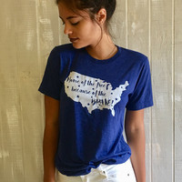 Home Of The Free Tee - Navy
