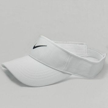 DCCKB62 Nike Fashion Casual Outdoor Running Cap Cool Unisex Baseball Cap Hat White G