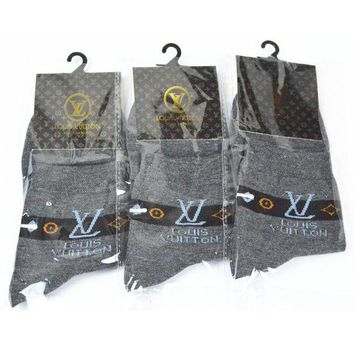 PEAPON Louis Vuitton Woman Men Cotton Socks