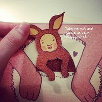 Mother's Day Red Kangaroo Joey Card.. on Luulla