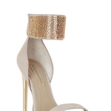 Neutral BCBG Everling High-Heel Filigree Dress Sandal