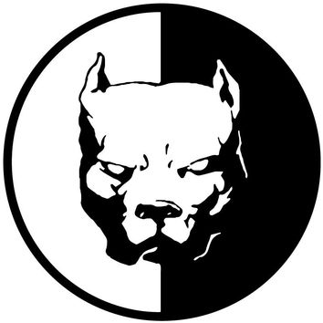 PITBULL DOG Car Stickers Decals Black/Silver