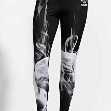 huge discount 79fb1 95a8d Adidas Rita Ora White Smoke Leggings - Womens Pants - Black