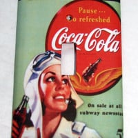 Light Switch Cover - Light Switch Coca Cola Vintage Ad