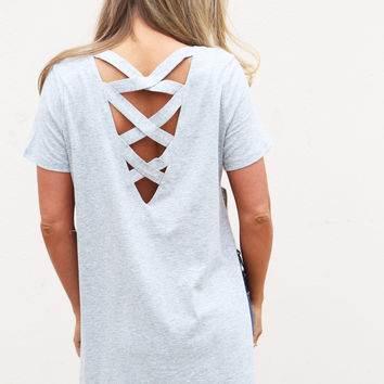 Ladder Back Side Show Top {Gray}